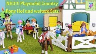 NEU! Playmobil Country 6927 Ponyhof, 6948 Ausflug mit Ponywagen und 6947 Fröhlicher Ausritt