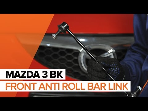 How to replace front anti roll bar link on MAZDA 3 BK TUTORIAL | AUTODOC