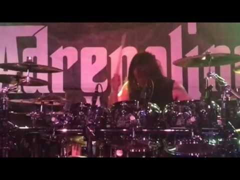 Adrenaline Mob drummer Jordan Cannata live Scottsdale, Az 7-9-2017 Pub Rock
