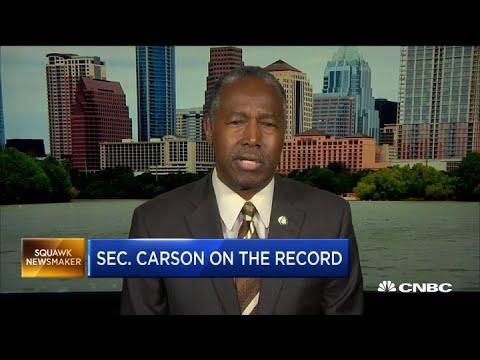 Housing Secretary Ben Carson On Changes To FHA Regulation