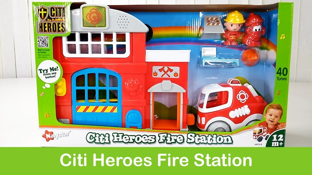 """Interactive """"Fire Station"""" Toys Open Box"""