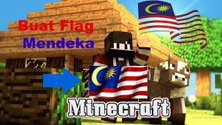 (Minecraft Malaysia)-buat bendera Malaysia
