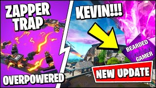 *NEW* Zapper Trap & Kevin The Cube Is Back In Fortnite Season X! Another Giveaway?