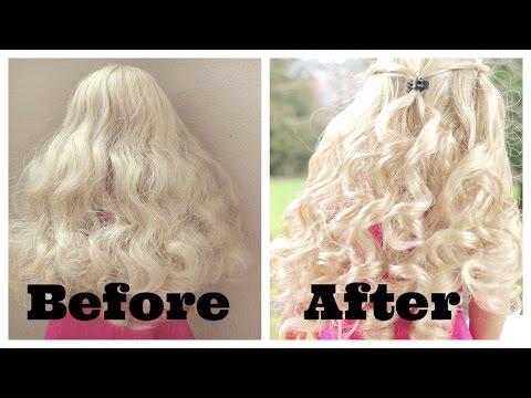 Fixing Up American Girl Doll Caroline's Hair!