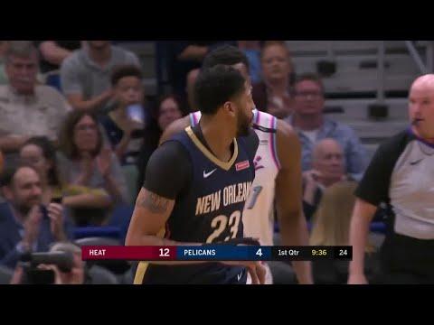 1st Quarter, One Box Video: New Orleans Pelicans vs. Miami Heat