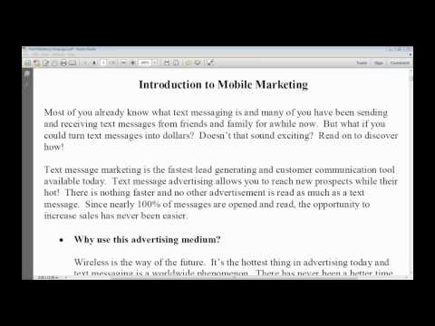 SMS Text Marketing Training