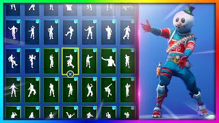 "TOUS Emotes/Dances avec 'NEW' ""SLUSHY SOLDIER"" Skin in Fortnite: Battle Royale!"