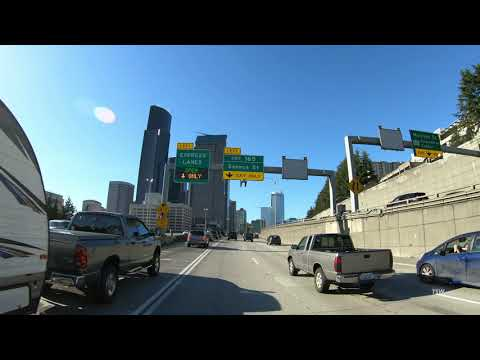 SeaTac Airport (SEA) to Downtown Seattle [WA State Convention Center] I-5 Driving Directions [4K]