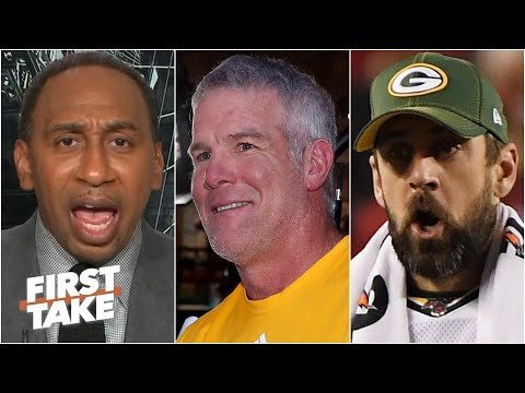 Stephen A. gets fired up over Brett Favre's comments on Aaron Rodgers & Jordan Love | First Take