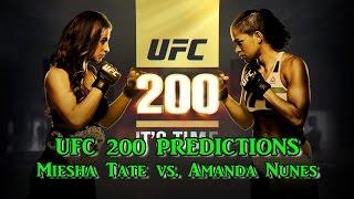UFC 200 WOMEN'S BANTAMWEIGHT CHAMPIONSHIP MIESHA TATE VS. AMANDA NUNES PREDICTIONS(UFC 200 Main Card WOMEN'S BANTAMWEIGHT: MIESHA TATE VS. AMANDA NUNES PREDICTIONS #PS4 Main Card WOMEN'S BANTAMWEIGHT: MIESHA ..., 2016-07-04T17:02:11.000Z)