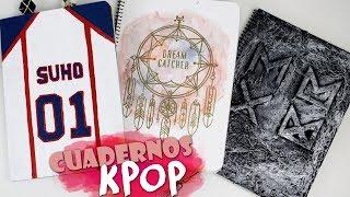 DIY KPOP: Decora tus cuadernos/libretas |K-freak| Vuelta a clase | DreamCatcher, EXO, MONSTA X