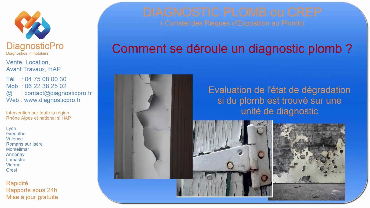 le diagnostic plomb comment se d roule un diagnostic plomb ou crep youtube. Black Bedroom Furniture Sets. Home Design Ideas
