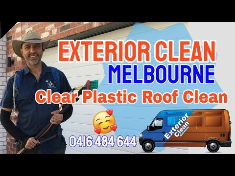 Clear Plastic Roof Clean LIchen & Mould