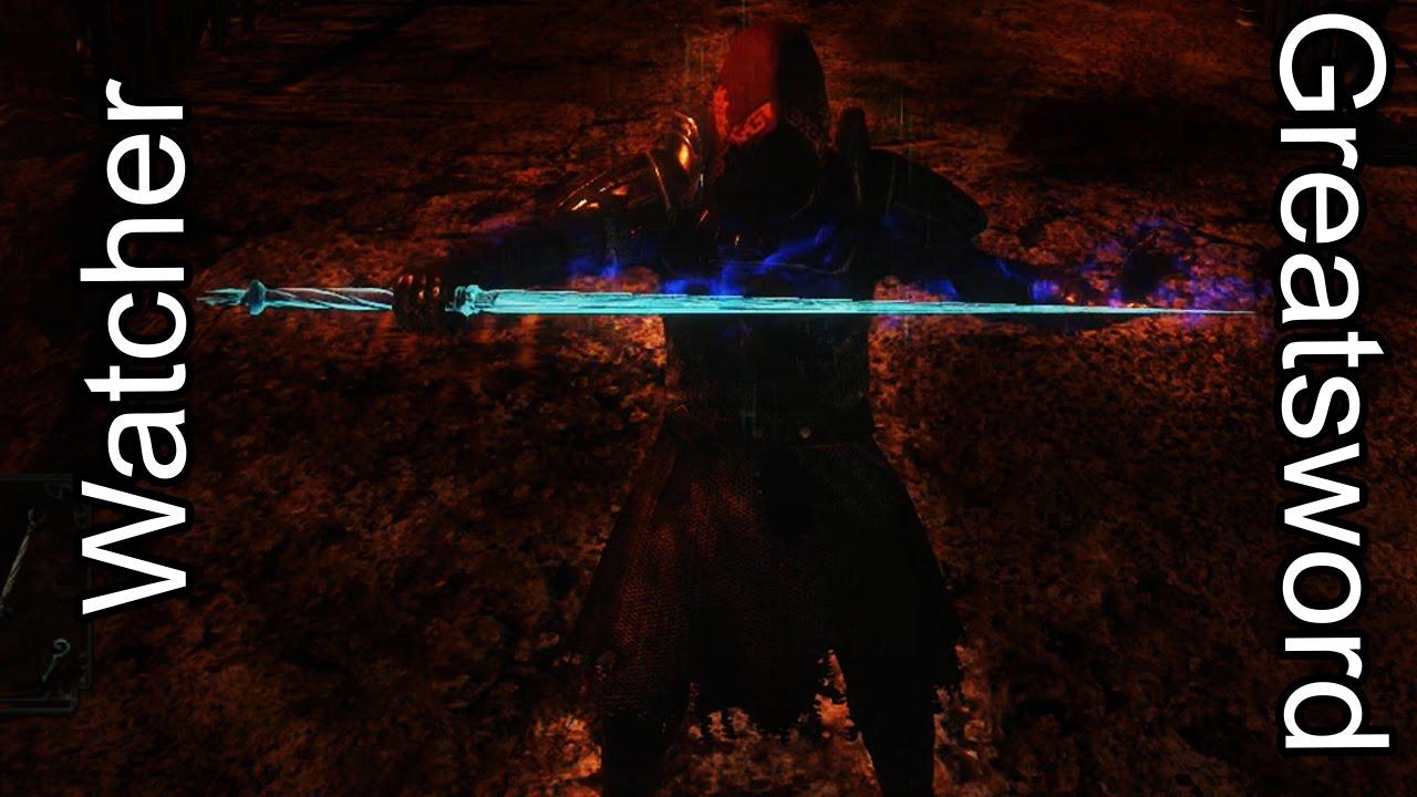 Dark Souls 2 Pvp Watcher Greatsword Is Op Live Commentary Youtube