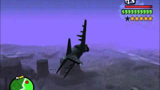 Grand Theft Auto- San Andreas, Flight to Area 69(Restricted Area) + Air Battle