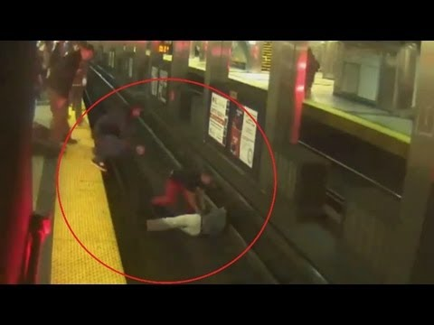 Happy New Year: Man 'appearing' drunk falls on tracks, delays Metro
