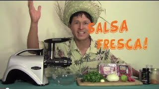 How To Make Fresh Salsa Recipe In The Omega Nc800 Juicer