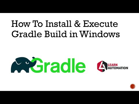 Gradle Tutorial 4-How To Install And Execute Gradle Build In Windows