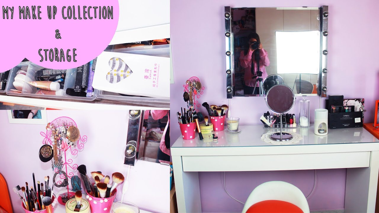 Ikea Specchio Make Up my makeup collection & storage ♡