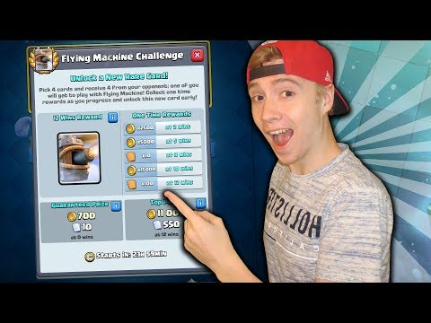 12 Win FLYING MACHINE CHALLENGE! Unlocking The NEWEST CARD! | Clash Royale