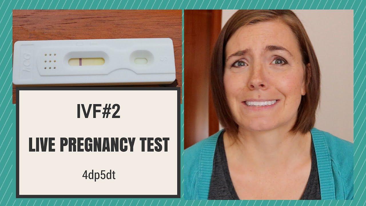 IVF#2: LIVE PREGNANCY TEST 4dp5dt