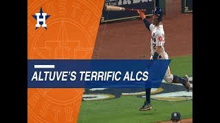 Jose Altuve lead the Astros in the ALCS