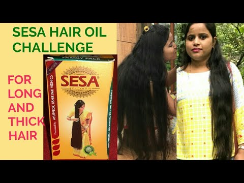 SESA HAIR OIL CHALLENGE FOR LONG AND THICK HAIR.