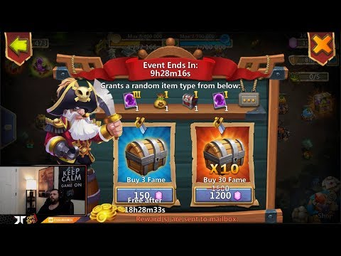 New Event PIRATE BOOTY F2P Friendly 10 TRIES For The GOODS Castle Clash