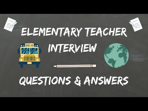 Elementary Teacher Interview Questions & Answers - YouTube