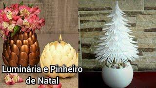 Luminária e Pinheiro de Garfo e Colher descartável