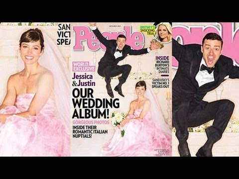 Justin Timberlake and Jessica Biel Wedding Photo