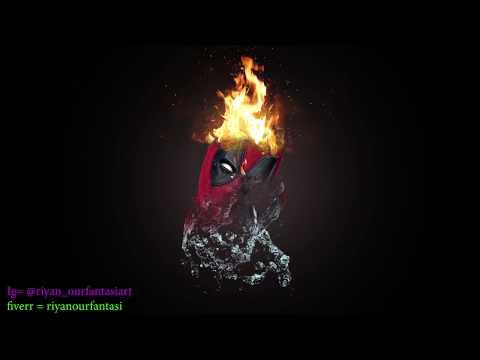 Photoshop Tutorial: Dual Disintegration Fire Water Effect thumbnail