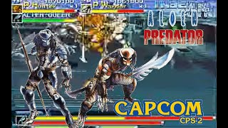 Alien Vs Predator Arcade hardest Predator Warrior and Hunter no death Playthrough