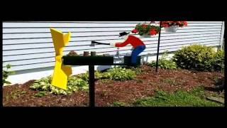 Man Chopping Wood Whirligig
