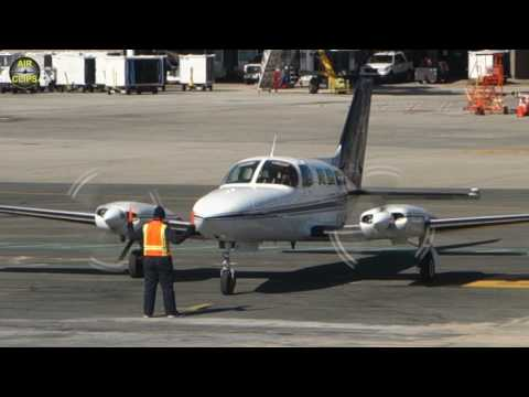 MUST SEE, SO FUNNY!!! Cape Air best-ever Marshaller parks and pampers his Cessna 402! [AirClips]