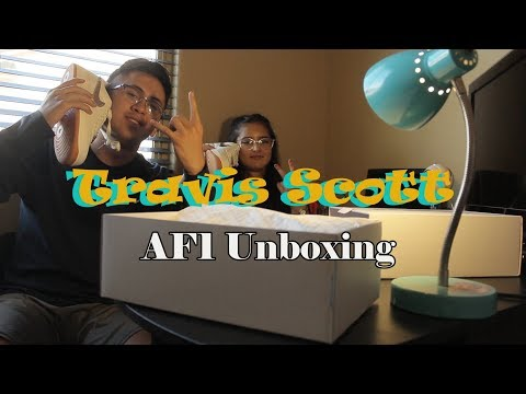 Travis Scott AF1 Sail Unboxing! Ft. My Girlfriend!