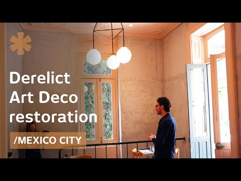 Derelict art déco homes become vivid Mexico City venues