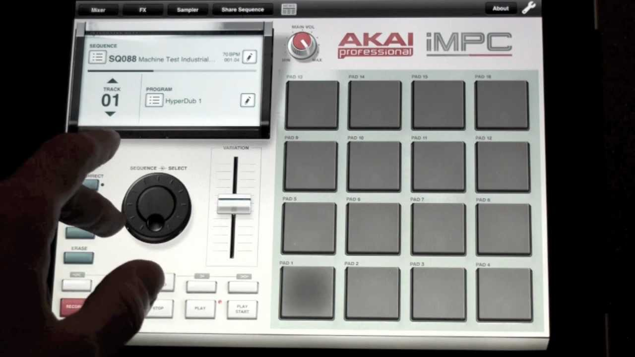 iMPC for iPad! NEW Official Drum Machine App - Part A - First Look and Beat  Making