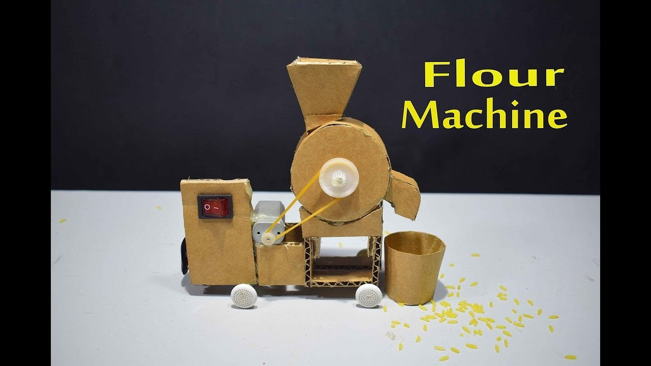 How To Make A Flour Mill Machine With Cardboard For Kids