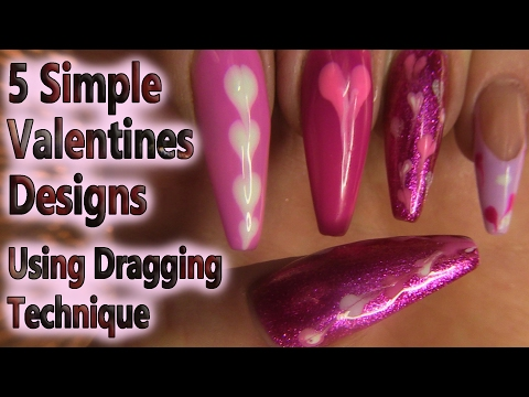 5 Quick and Easy Valentines Designs Using Gel Polish