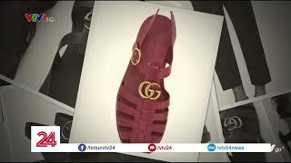 Sandal Gucci hàng hiệu 11 triệu đồng giống dép rọ bộ đội Việt Nam | VTV24