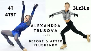 ALEXANDRA TRUSOVA Jumps Before and After Plushenko Александра Трусова