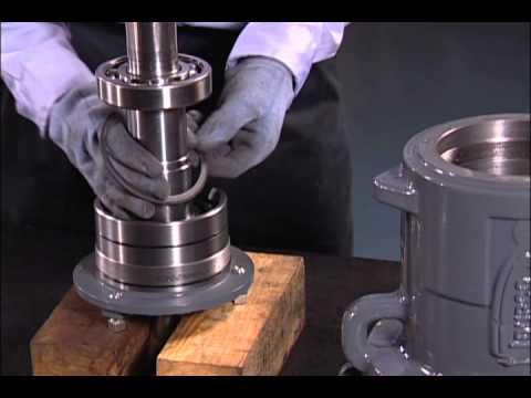 Mantenimiento de la bomba de proceso químico Durco Mark 3 ASME