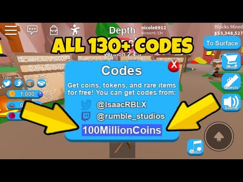 Roblox New Mining Simulator Hack Bux Ggaaa 150 Codes All Mining Simulator 2019 Roblox Mining Simulator Hacks Youtube