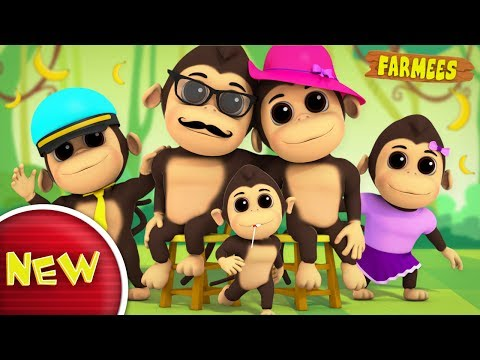 Gorilla Finger Family | Nursery Rhymes For Kids | Baby Songs | Children Rhymes by Farmees