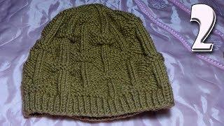Мужская шапка 58-62 см. Часть 2. Вязание спицами