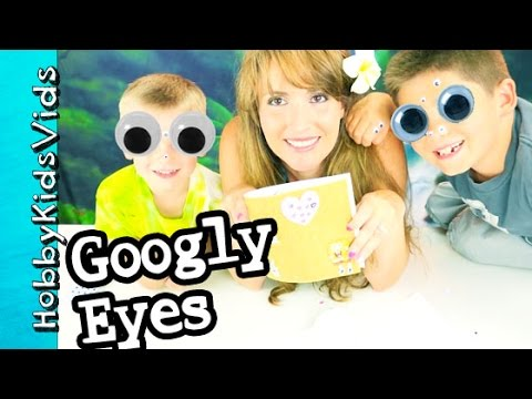 Googly Eyes Everywhere! Homemade Card for HobbyMema + HobbyPapa Arts n Crafts HobbyKidsVids