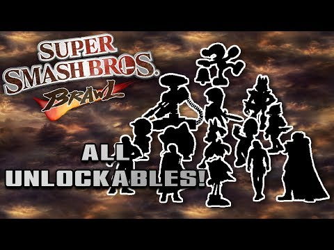 All Unlockables In Super Smash Bros  Brawl!