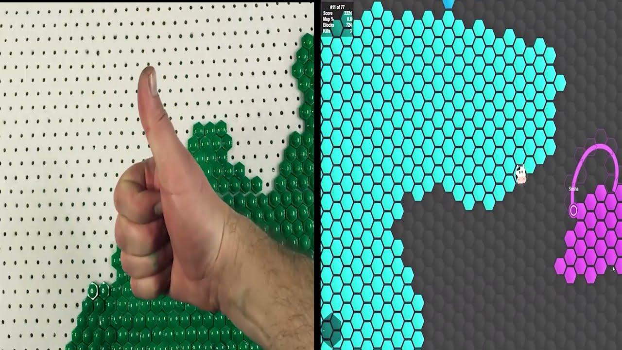 Superhex.io in real life. Cardboard game. DIY