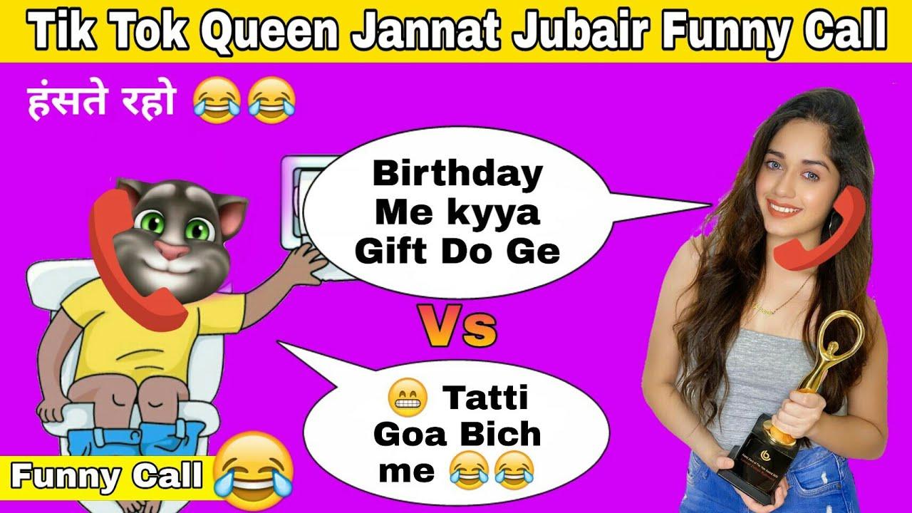 Jannat Zubair Vs Tom Billu Funny Call || Tik Tok Queen Jannat Zubair Comedy Video